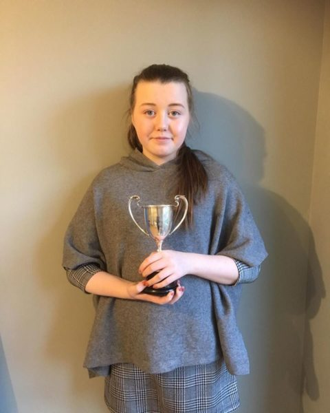 Eva Doherty with Cup